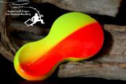 Zebco Buttblei  Flatty Teaser 80 g Inline Orange Gelb  - Schollen Flundern Ostsee Nordsee Norwegen