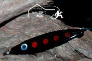 Balzer Seatrout  22 g 8cm  Black - Mefoblinker aus rostfreiem Messing & salzwasserfesten Tigerstahl-Drillingen