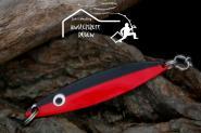 Balzer Seatrout  26 g 8cm Red Black - Mefoblinker aus rostfreiem Messing & salzwasserfesten Tigerstahl-Drillingen