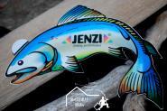 Aufkleber - Angelaufkleber Jenzi Fisch