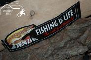 Aufkleber - Angelaufkleber Jenzi  -  Fishing is Live