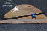 Feuerzeug - Stabfeuerzeug mit Fliegenrolle  Blau