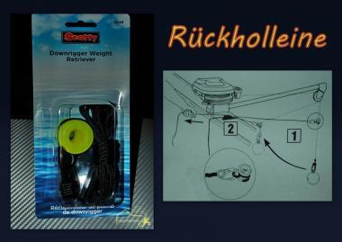 Scotty Weight Retriever Downrigger Trolling Rückholleine Rügen Kiel Rostock Darß