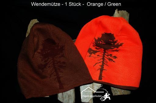 Pinnewood Wendemuetze Orange - Grün Angeln &  Jagen