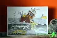 Comic Postkarte Coast-Cards - Karten für Angler - Anglerinnen - maritim