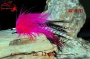 Turrall  Pink Pike Fly  # 4 - Handgebunden - Hecht Stralsund Rügen Schweden