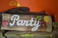 Holzschild PARTY - Deko Schild ca. 30 x 10 x 1cm
