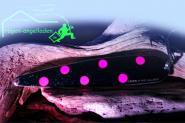 Grizzly Big Salmon - 40 - Schw.Glitter6P  150 mm Trollinglöffel -Trollingblinker - Schleppblinker Lachs Mefo