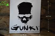 Aufkleber Gunki - schwarz / weiß