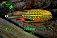 Søvik Dorgesluk - 12cm 24 g Gold Orange Spots