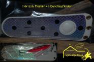 Grizzly Flasher ca.20,5 cm- Trollingflasher + Durchlaufwobbler Vorfach & Drilling- 18 Schleppeinstellungen