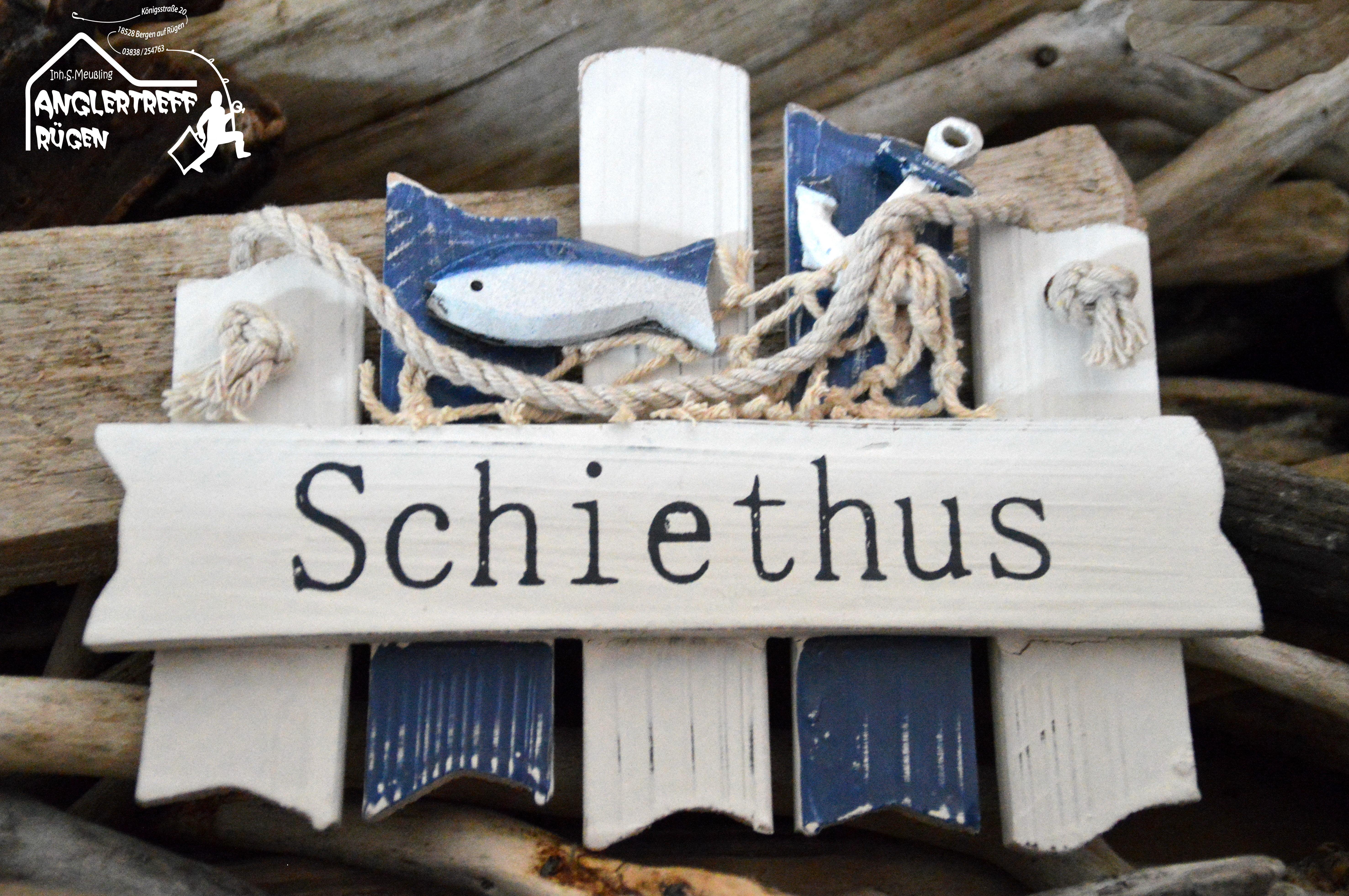anglertreff r gen schiethus maritime deko deko schild online kaufen. Black Bedroom Furniture Sets. Home Design Ideas